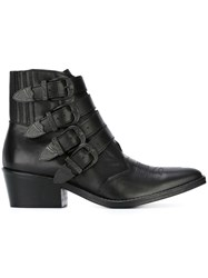 Toga Buckle Boots Black