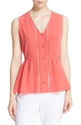 Women's Kate Spade New York Sleeveless Pleated Peplum Silk Top