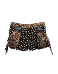 Design Lab Lord And Taylor Patterned Shorts Black