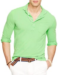 Polo Ralph Lauren Neon Featherweight Mesh Estate Shirt Alfalfa Green