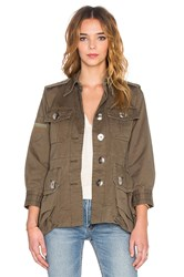 Marc By Marc Jacobs Cotton Twill Military Jacket Army