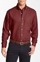 Men's Big And Tall Cutter And Buck 'Nailshead Epic Easy Care' Classic Fit Sport Shirt Cardinal Red