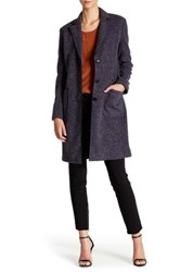 Atm Anthony Thomas Melillo Bonded Donegal Faux Fur Lined Coat Blue