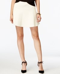 Rachel Rachel Roy Textured Fit And Flare Sweater Skirt Winter White