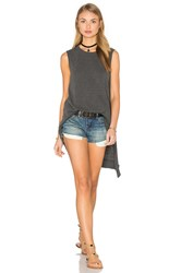 Wilt Slub Layered Slant Hem Tunic Gray