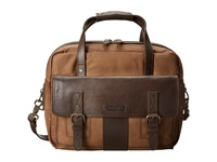 Frye Trevor Utility Brief Taupe Washed Buffalo Briefcase Bags Brown
