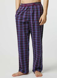 Topman Calvin Klein Purple Woven Pyjama Bottoms Grey