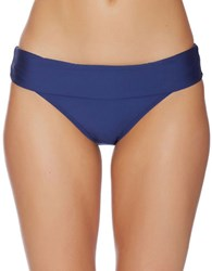 Splendid Stitch Banded Bikini Bottom Navy