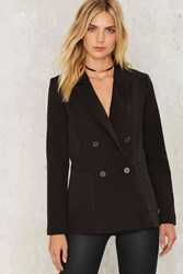 Nasty Gal Double Tap Fitted Blazer Black