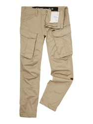 G Star Rovic Tapered Fit 3D Zip Pocket Cargo Pants Beige