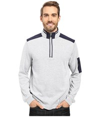 Bugatchi Amato Long Sleeve 1 4 Zip Knit Shirt White Men's Long Sleeve Pullover