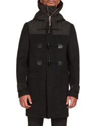 Givenchy Wool Blend Toggle Coat Black