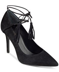 Guess Women's Binum Tasseled Tie Pumps Women's Shoes Black