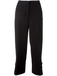 Salvatore Ferragamo Cropped Trousers Black