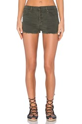 Black Orchid Button Front Short In Fall Army