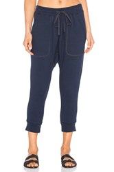 Nlst Zip Pocket Knit Harem Sweatpant Navy