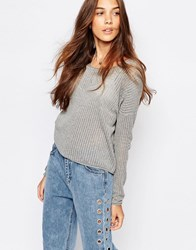 Pull And Bear Gray Light Weight Knit Sweater Gray
