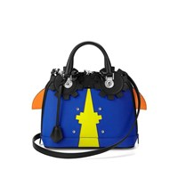 Aspinal Of London Hepburn Mini Bug Bag Amber Cobalt Blue