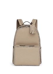 Valentino Rockstud Leather Backpack Brown