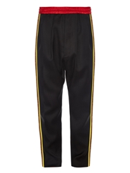 Cerruti Contrast Panel Japanese Wool Track Pants