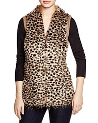 Sioni Cheetah Print Faux Fur Vest Bloomingdale's Exclusive Leopard Multi