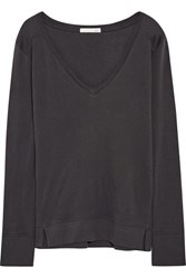 Skin Lofty Cotton Jersey Pajama Top Dark Gray