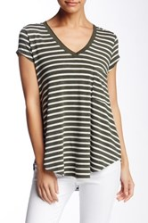 Heather By Bordeaux Classic V Neck Tee Green