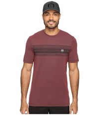 Travis Mathew Belmar Heather Oxblood Men's Short Sleeve Knit Mahogany