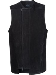 Lost And Found Ria Dunn Zipped Pockets Biker Vest Black