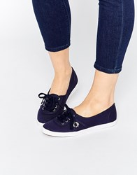 Fred Perry Aubrey Canvas Navy Plimsoll Trainers White
