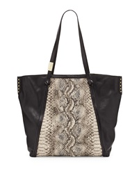 Foley Corinna Tight Rope Snake Print Tote Bag Woven Snak