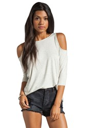 Dolan Classic Slub Open Shoulder Tee Light Gray