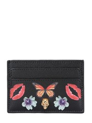 Alexander Mcqueen Skull Print Leather Card Holder