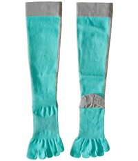 Toesox Sport Compression Knee High Ice 4Am Women's Knee High Socks Shoes Blue
