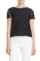 Women's Cece By Cynthia Steffe Floral Lace Short Sleeve Blouse