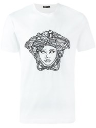 Versace Threaded Sequin 'Medusa Head' T Shirt White