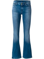 7 For All Mankind Washed Flared Jeans Blue