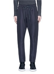 Attachment Drop Crotch Tech Fabric Pants Black