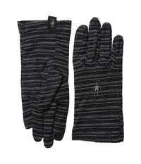 Smartwool Nts Mid 250 Pattern Glove Charcoal Heather Black Liner Gloves Gray