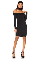 Krisa Ruched Off Shoulder Mini Dress Black