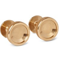 Alice Made This Alexander Brushed Brass Cufflinks Gold