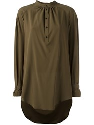 A.F.Vandevorst Long Length Blouse Green