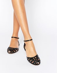Head Over Heels By Dune Haidyn Black Cut Out Flat Shoes Black