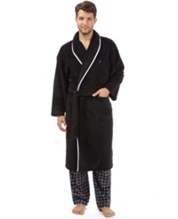 Nautica Men's Sleepwear Solid Shawl Collar Robe