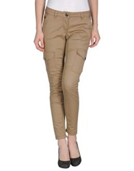 Pinko Grey Casual Pants Sand
