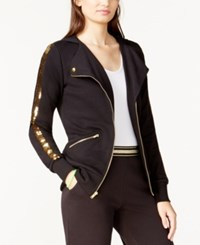 Material Girl Juniors' Sequin Embroidered Hoodie Only At Macy's Classic Black