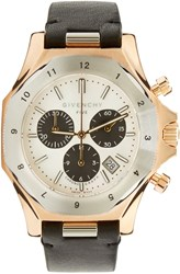 Givenchy Silver And Rose Gold Five Watch