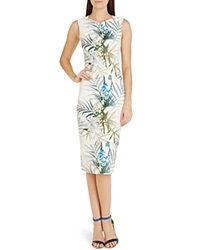 Ted Baker Loua Floral Sheath Dress Natural