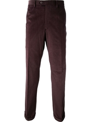 Brioni Straight Leg Corduroy Trousers Red