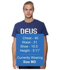 Deus Ex Machina Broken Logo Tee Blue Indigo Men's T Shirt
